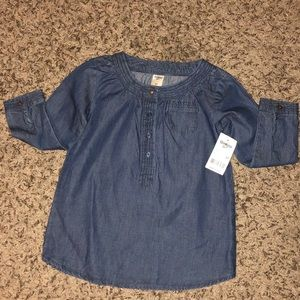 Girl's Denim Long sleeve Shirt Dress: Size 3T